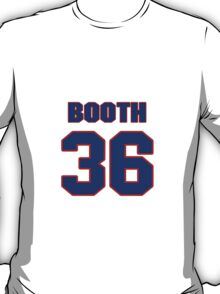 National football player Issac Booth jersey 36 T-Shirt