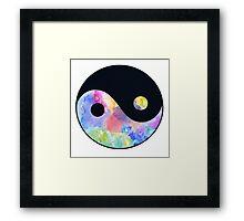 Tie dye Ying & Yang Framed Print