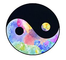Tie dye Ying & Yang Photographic Print