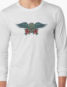 Flying Sugar Skull Long Sleeve T-Shirt