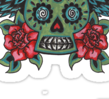Flying Sugar Skull Sticker