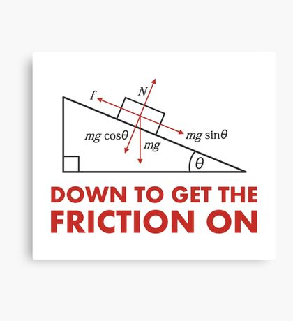 Down to Get the Friction On Physics Diagram Canvas Print
