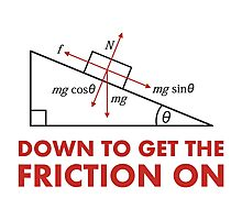 Down to Get the Friction On Physics Diagram Photographic Print