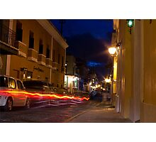 A Blur in Old San Juan Photographic Print