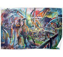 Lucas Sulton - GLASSBLOWER -artist Bob Gammage Poster
