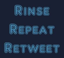 Iskybibblle Products Rinse Repeat Retweet Blue Kids Tee