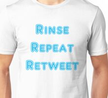 Iskybibblle Products Rinse Repeat Retweet Blue Unisex T-Shirt
