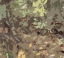 Woods Camo Brown and Green Camouflage Abstract Nature Pattern Design by Adri Turner