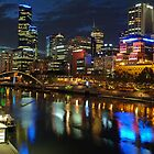 Melbourne city @ night by simonwoolley