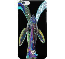 CRAZY GOAT on Black Background iPhone Case/Skin