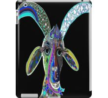 CRAZY GOAT on Black Background iPad Case/Skin