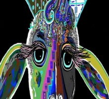 CRAZY GOAT on Black Background Sticker