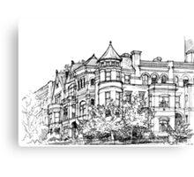 Street corner in Washington Canvas Print