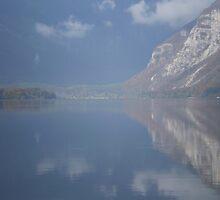 Blue Sky Reflection, Lake Bohinj Slovenia by oscars