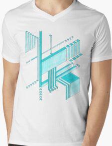 Isometric Mens V-Neck T-Shirt