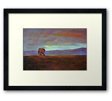 Ngorongoro Sunset Framed Print