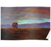 Ngorongoro Sunset Poster