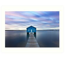 Sunrise at Matilda Bay Boatshed in Perth, Western Australia Art Print
