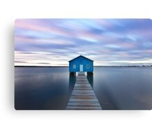 Sunrise at Matilda Bay Boatshed in Perth, Western Australia Metal Print