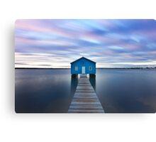 Sunrise at Matilda Bay Boatshed in Perth, Western Australia Canvas Print