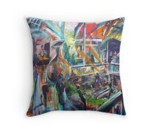 Lucas Sulton - GLASSBLOWER -artist Bob Gammage Throw Pillow