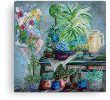 Table of a Plant Lover Canvas Print