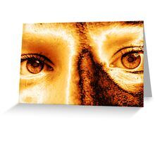 Golden Eye Greeting Card