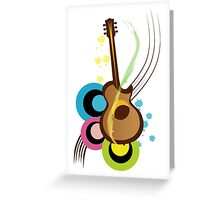 Abstract Guitar for Tshirts Greeting Card