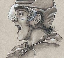 Torey Krug - Boston Bruins Hockey Portrait by HeatherRose