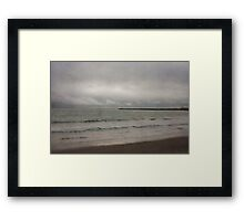 Calm ocean waves Framed Print