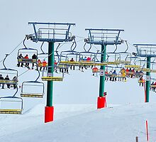 Up Up And Away - Mount Hotham , Victoria, Australia by Philip Johnson