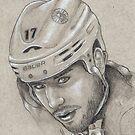 Milan Lucic - Boston Bruins Hockey Portrait by HeatherRose