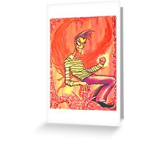 Groovin' Flamey Greeting Card