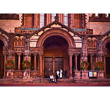 Christmas at Trinity Church  of Boston  Photographic Print