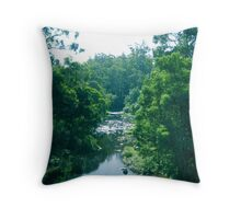 Tranquil Summer River Throw Pillow