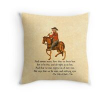 The Wife of Bath's Design Throw Pillow