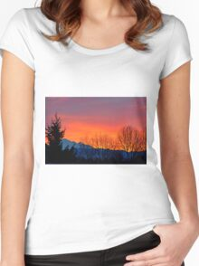 Sunrise with Mount Baker, Washington State, US Women's Fitted Scoop T-Shirt