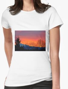 Sunrise with Mount Baker, Washington State, US Womens Fitted T-Shirt