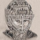 Tuukka Rask - Boston Bruins Hockey Portrait by HeatherRose