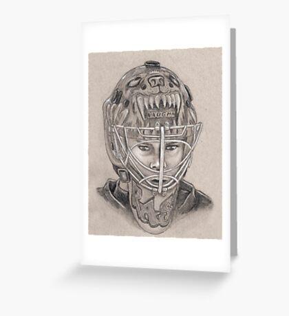 Tuukka Rask - Boston Bruins Hockey Portrait Greeting Card