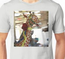Giraffe on the Carousel Unisex T-Shirt