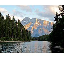 Sunset at Minnewanka Lake, Canadian Rockies, Alberta, Canada Photographic Print