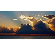 Suntset Over the Indian Ocean Photographic Print