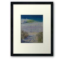 A stroll to the Beach Framed Print