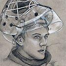 Niklas Svedberg - Boston Bruins Hockey Portait by HeatherRose
