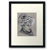 Niklas Svedberg - Boston Bruins Hockey Portait Framed Print