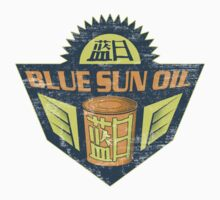 Blue Sun Vintage Oil Sign One Piece - Short Sleeve