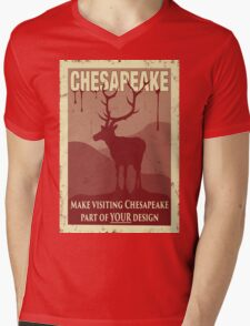 Visit Chesapeake Mens V-Neck T-Shirt