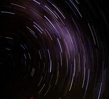 Star Trails One Hour Exposure Above The Warrumbungles by pedroski