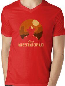 Visit Westworld Mens V-Neck T-Shirt